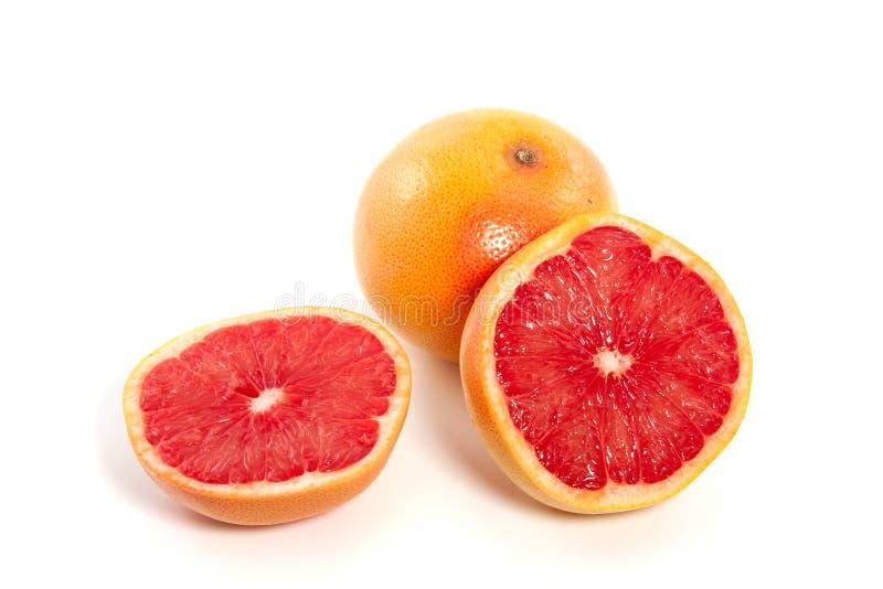 Un pamplemousse rouge image stock