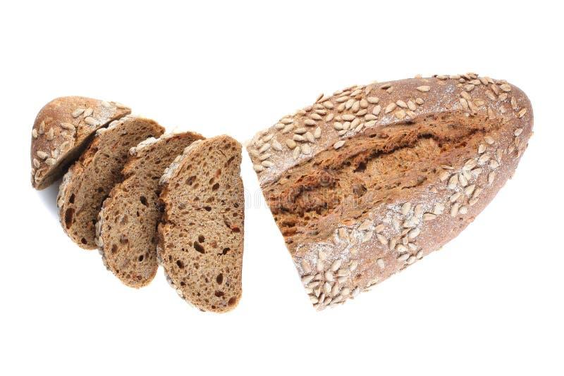 Un pan del pan ácimo con el primer de las semillas de girasol en un wh fotografía de archivo libre de regalías