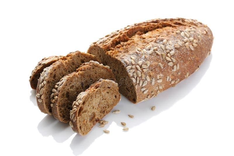 Un pan del pan ácimo con el primer de las semillas de girasol en un wh foto de archivo