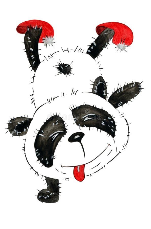 Un panda vilain de bande dessinée illustration stock