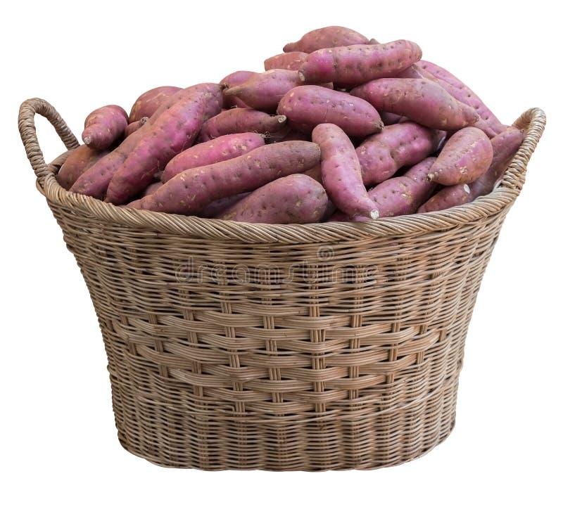 Un panier des patates douces photos stock