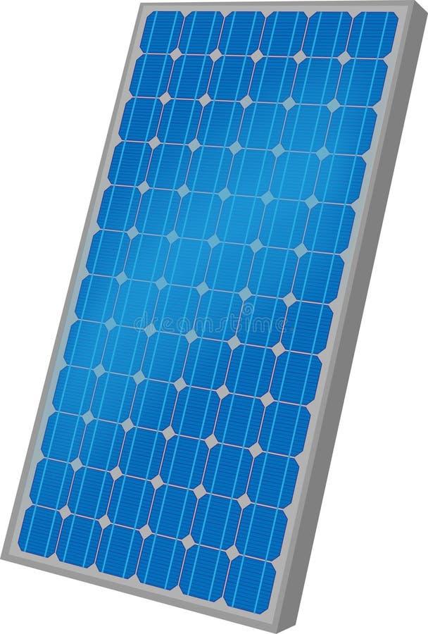 Un panneau solaire illustration de vecteur