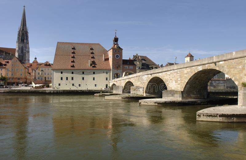 Un panorama alla città tedesca Regensburg