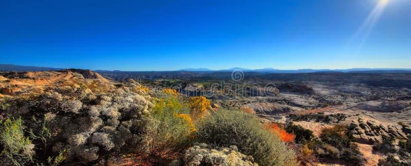 Un panorama de désert du Wyoming images libres de droits