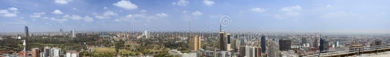un panorama di 270 gradi di Nairobi immagini stock