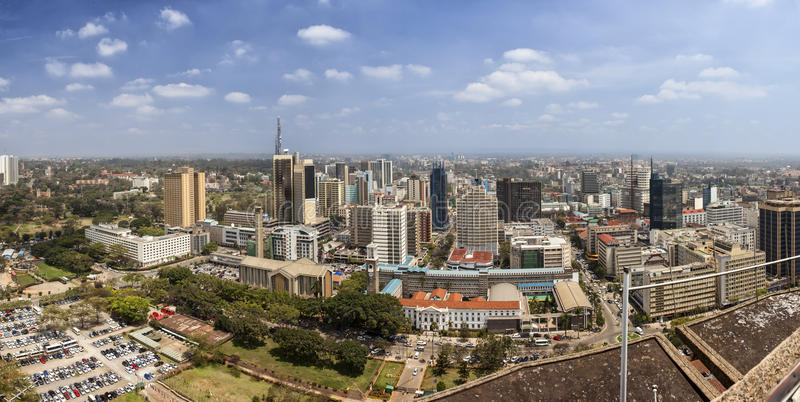 un panorama di 180 gradi di Nairobi, Kenya immagini stock