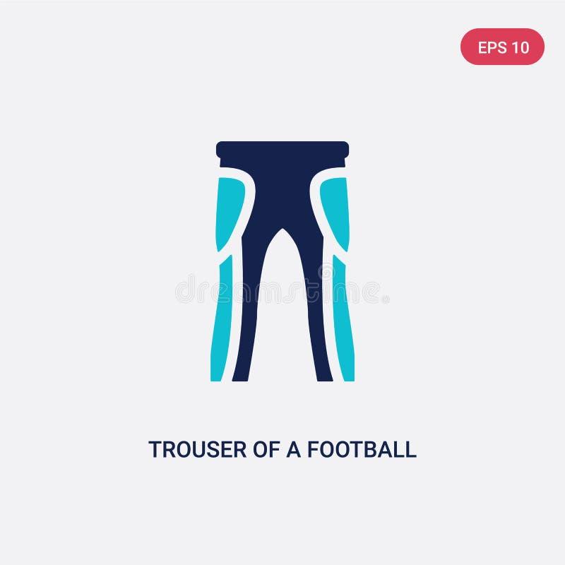 Un pantalone di due colori di un'icona di vettore del giocatore di football americano dal concetto di football americano pantalon royalty illustrazione gratis