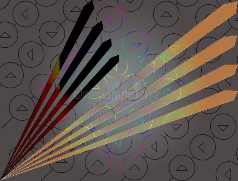 Un papel pintado impresionante en mirada del diamante ilustración del vector