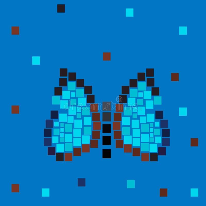 Un papillon composé des places de mosaïque illustration libre de droits