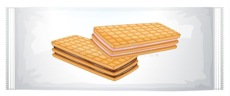 Un paquet de biscuits crèmes illustration stock