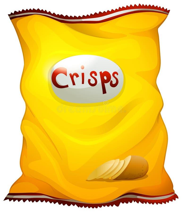 Un paquet de chips illustration stock