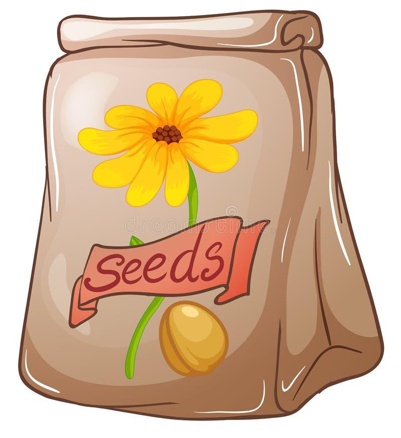 Un paquet de graines de tournesol illustration libre de droits