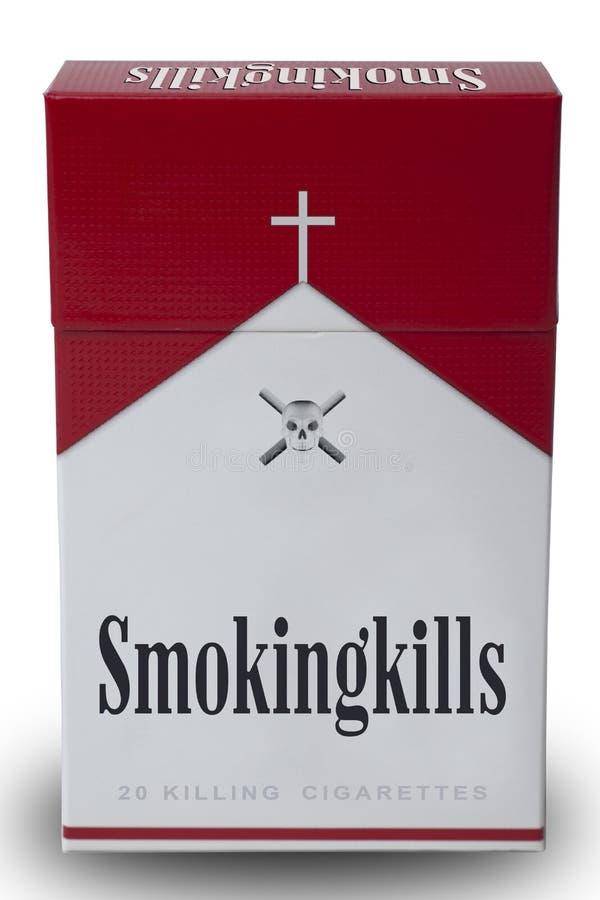 Un paquet de mises à mort de fumage photos libres de droits