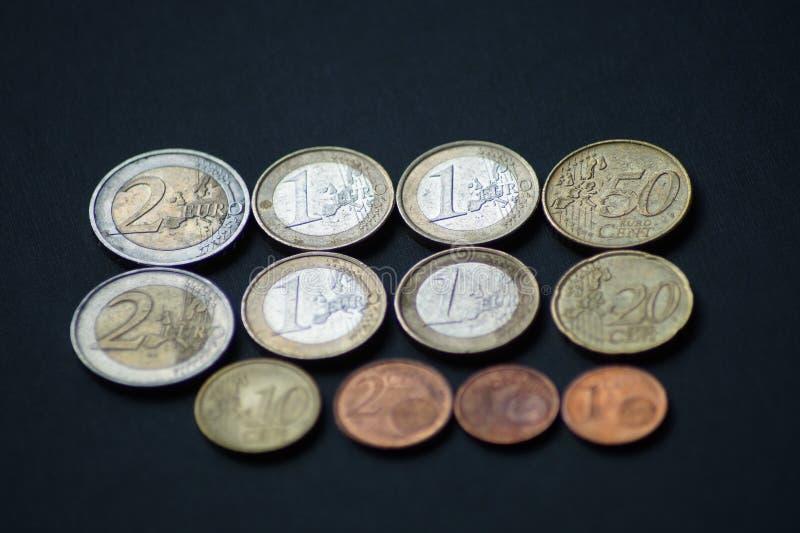 Un paquete de monedas del centavo euro imágenes de archivo libres de regalías