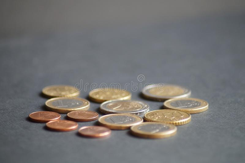 Un paquete de monedas del centavo euro fotografía de archivo