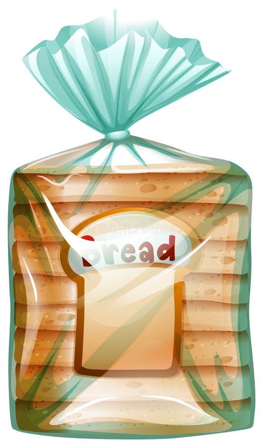 Un paquete de pan cortado ilustración del vector