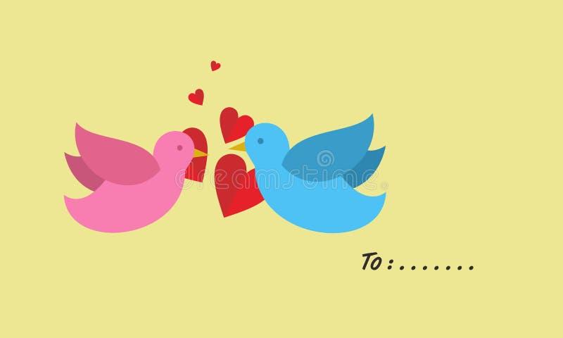 Un par de pájaros cariñosos libre illustration