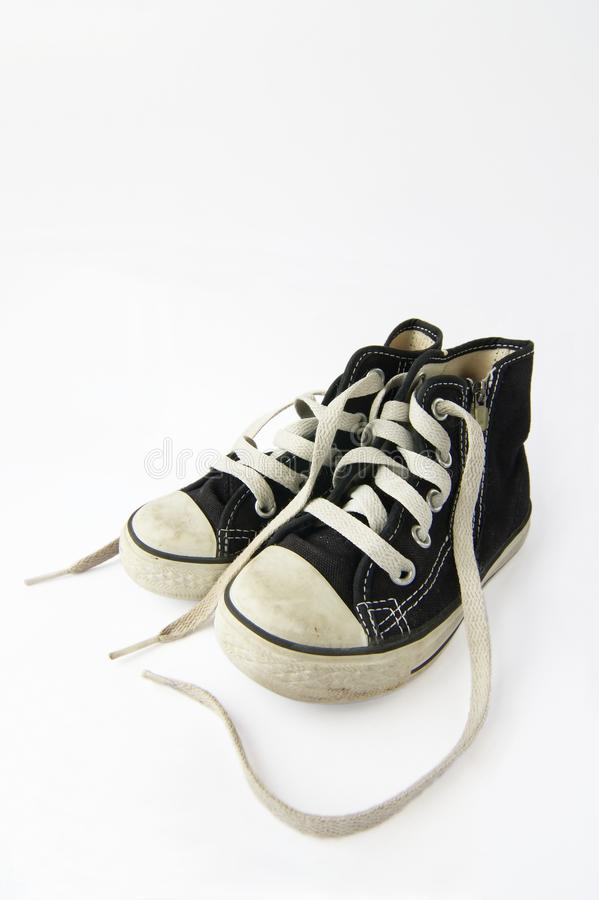 Un par del zapato de los niños imagen de archivo libre de regalías