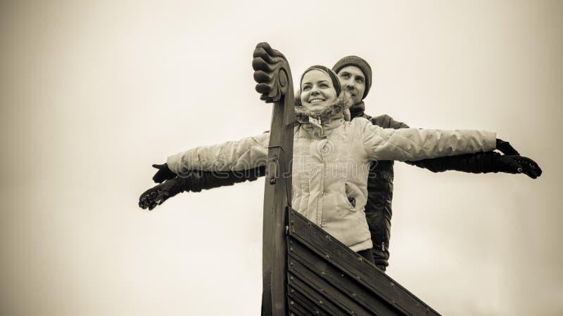 Un par moderno de vikingo fotografía de archivo
