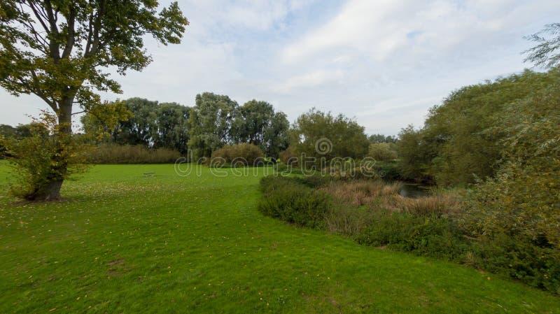 Un parco alla fine di settembre immagini stock libere da diritti