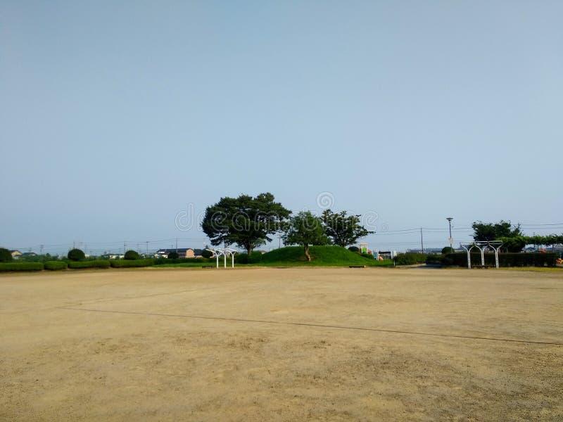 Un parco pubblico silenzioso fotografia stock