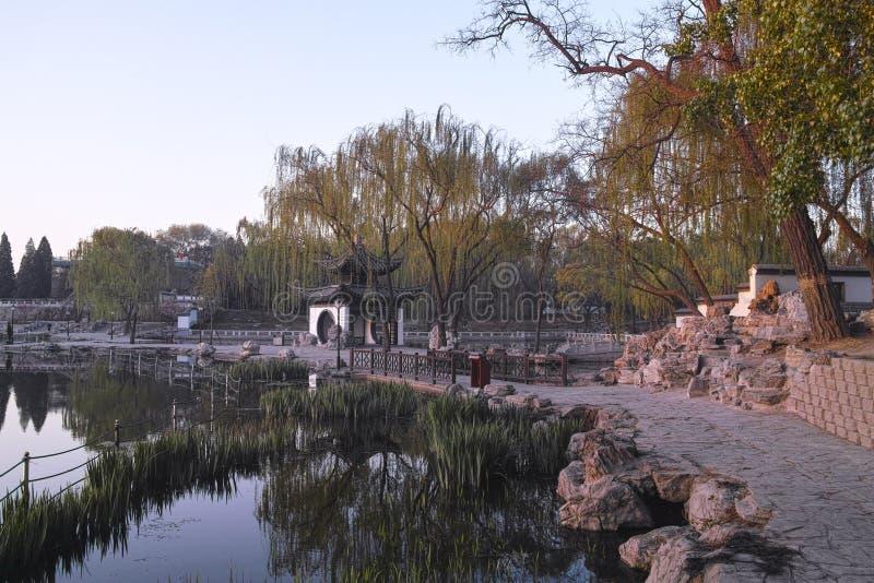 Un parque chino imágenes de archivo libres de regalías