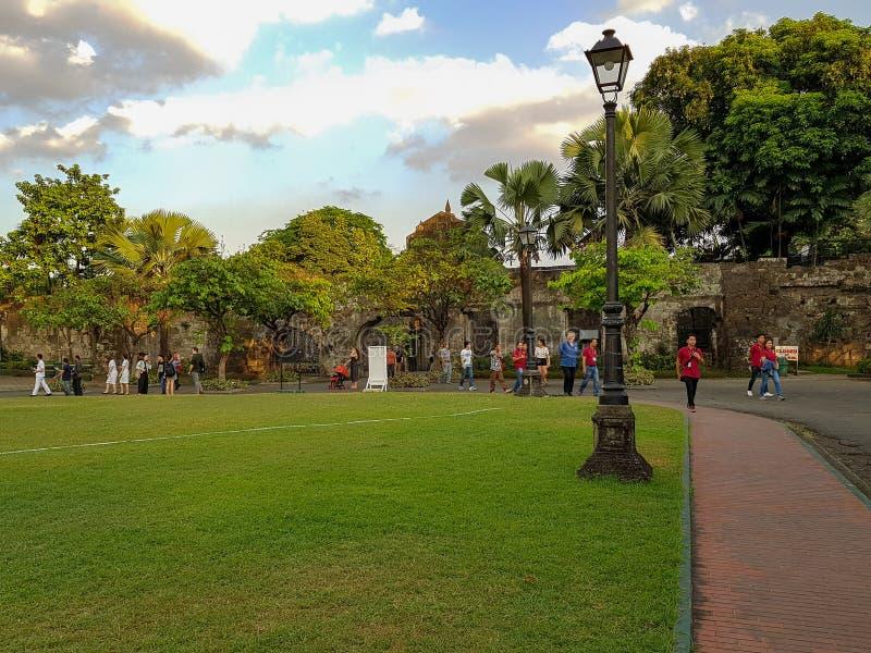 Un parque en Manila imagenes de archivo