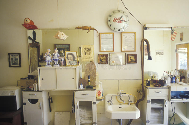Un parrucchiere provinciale, Lione, CO immagini stock libere da diritti