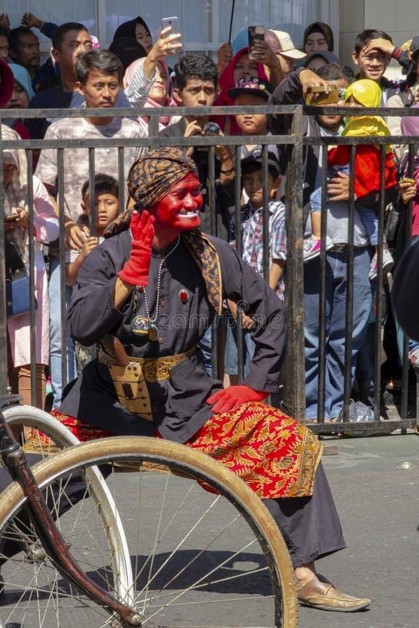 Un participant de carnaval au festival 2019 de l'Asie Afrique photos libres de droits