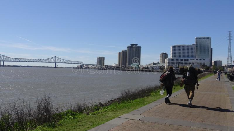 Un paseo del río fotografía de archivo
