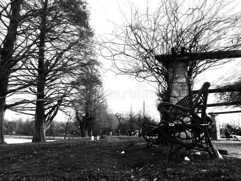 Un paseo en el parque fotografía de archivo libre de regalías
