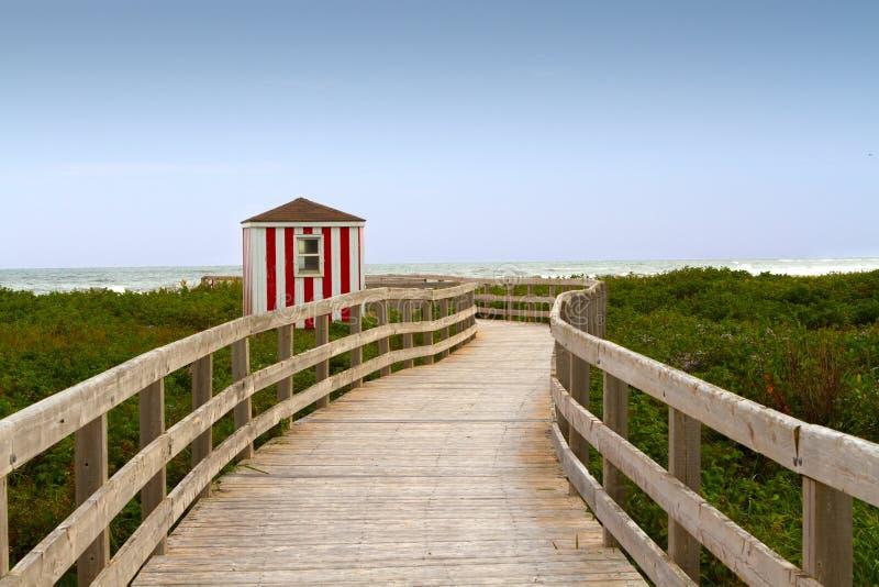 Un paseo marítimo a la playa foto de archivo libre de regalías