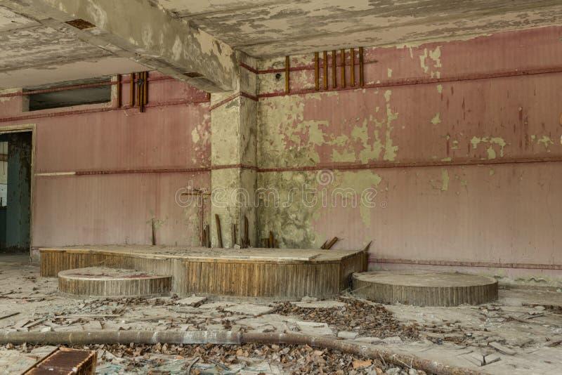 Un pasillo del hotel ?Polesie ?en Pripyat imágenes de archivo libres de regalías