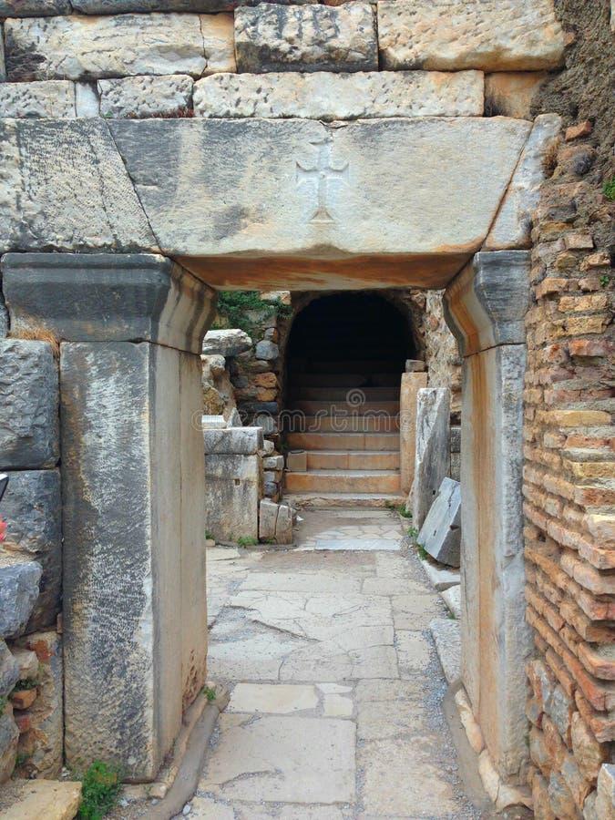 Un paso en Ephesus antient imagenes de archivo