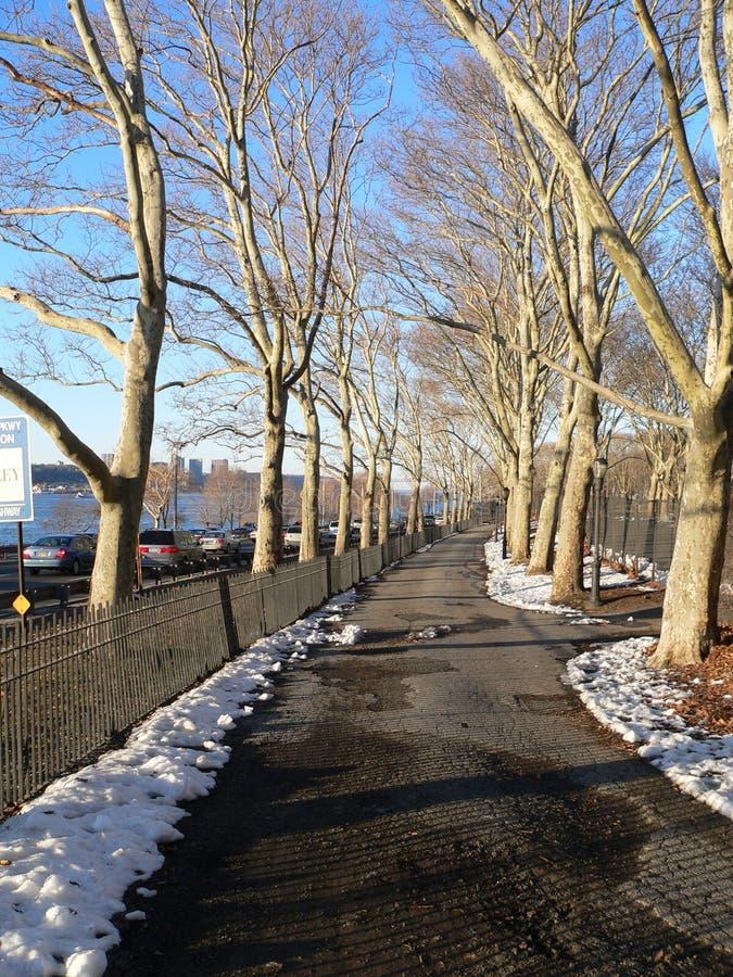 Download Un Passage Couvert En Stationnement De Rive Image stock - Image du hudson, hiver: 88513