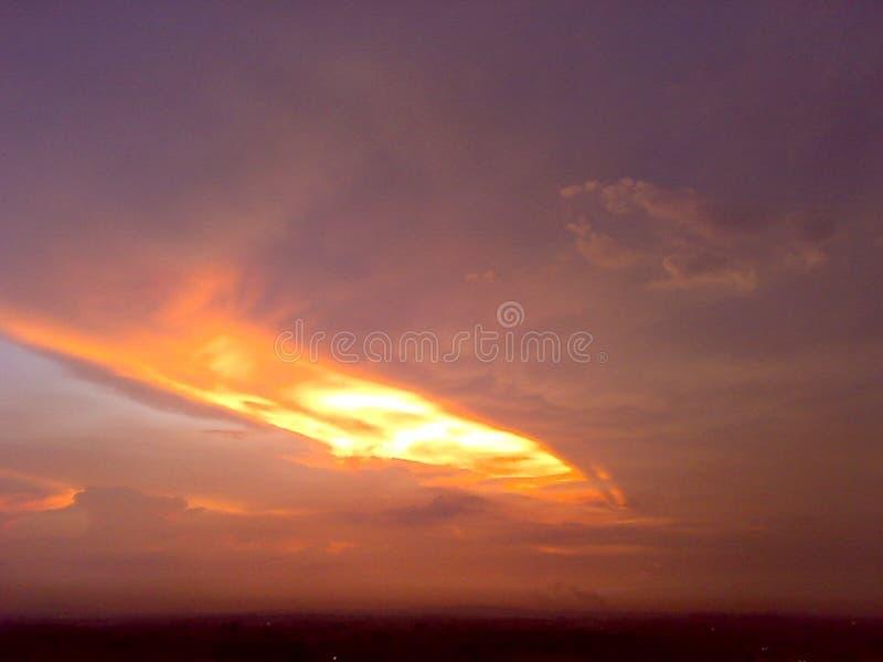 Un passage de ciel image libre de droits