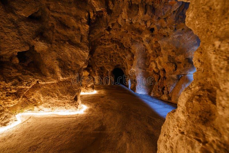 Un passaggio pedonale sotterraneo a Quinta da Regaleira fotografie stock libere da diritti
