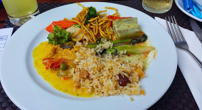 un pasto della Tailandia nell'hotel immagini stock libere da diritti