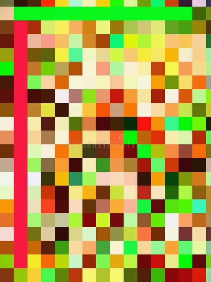 Un patrón digital bastante colorido de rectángulos y cuadrados libre illustration