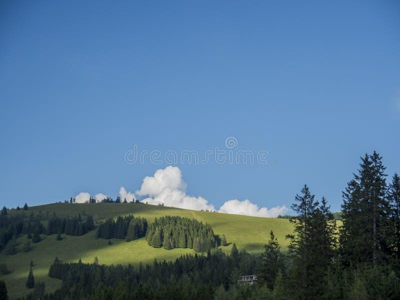 Un paysage d'une partie dans les Alpes photos stock