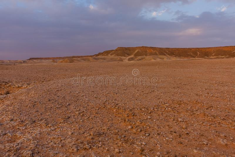 Un paysage de d?sert au sud-est de Riyadh, Arabie Saoudite image libre de droits