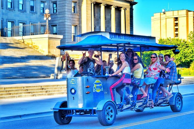 Un pedal accionó el pub en Boise, Idaho fotos de archivo