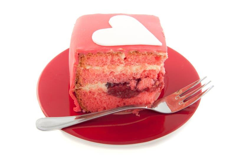 Un pedazo de empanada rosada fotografía de archivo