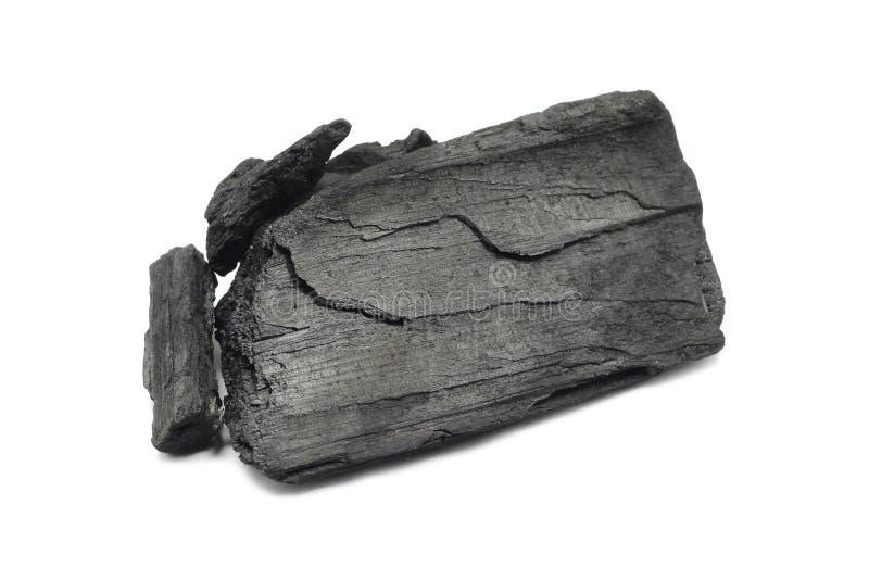 Un pedazo grande de carbón de leña foto de archivo libre de regalías