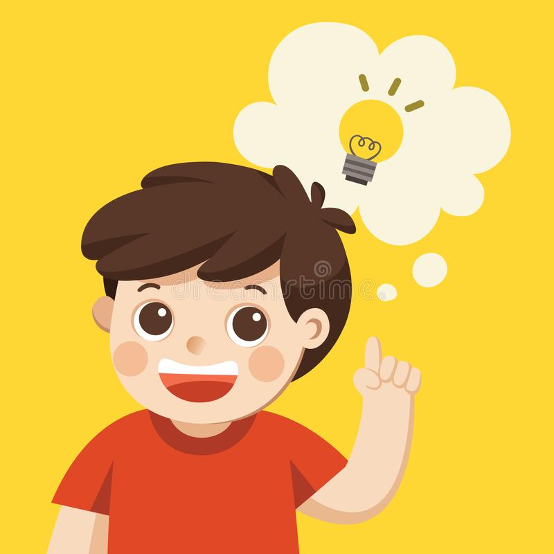 Un pensamiento lindo del muchacho libre illustration