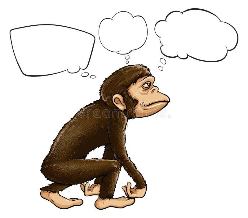 Un pensiero della scimmia illustrazione vettoriale
