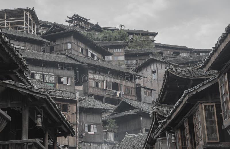Un pequeño pueblo en el sudoeste China fotografía de archivo libre de regalías
