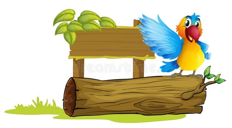 Un perroquet coloré illustration libre de droits