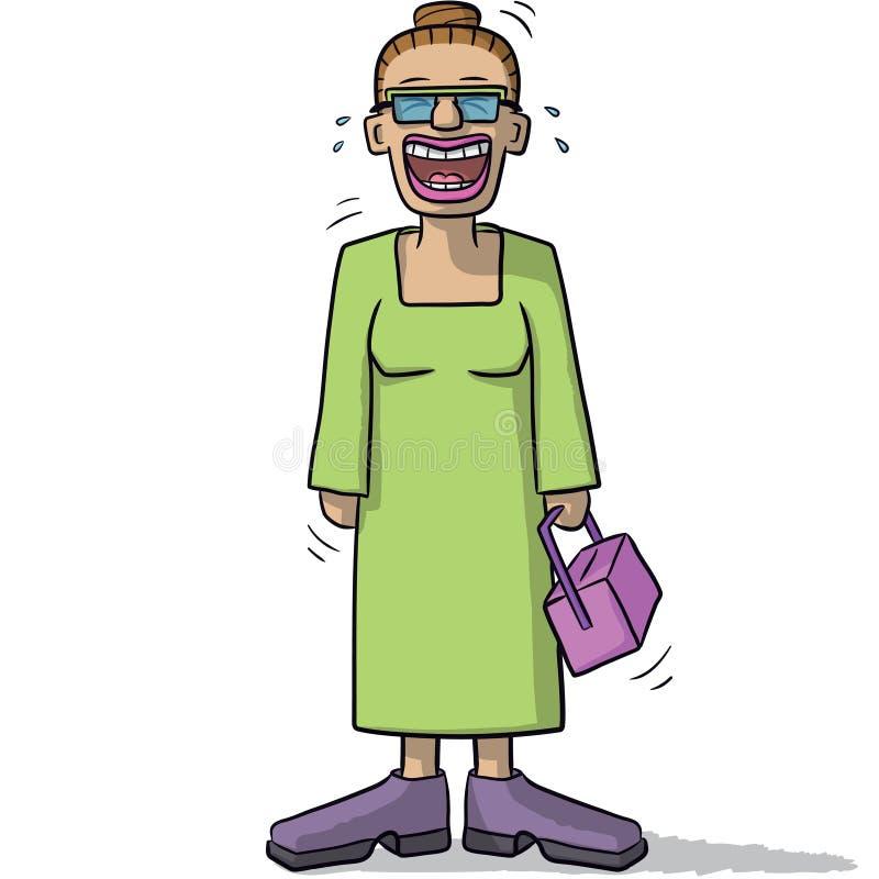 Download Un Personnage Féminin Avec Le Sourire Drôle Illustration de Vecteur - Illustration du paisible, assez: 76089873