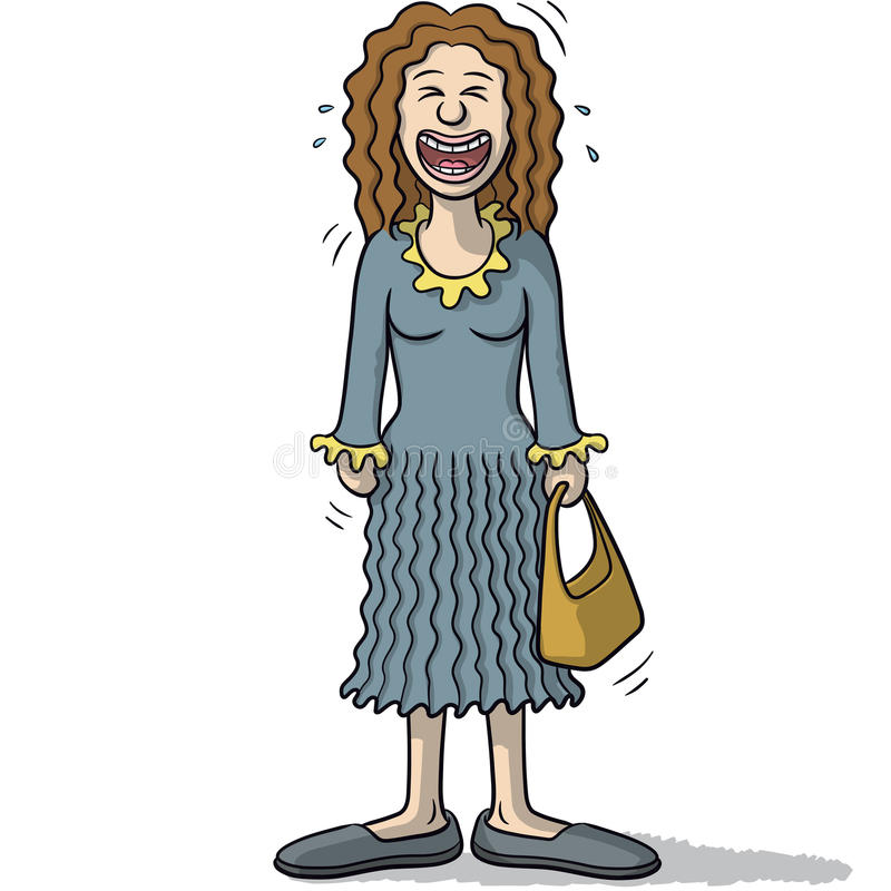 Download Un Personnage Féminin Avec Le Sourire Drôle Illustration de Vecteur - Illustration du euphorique, drôle: 76089896